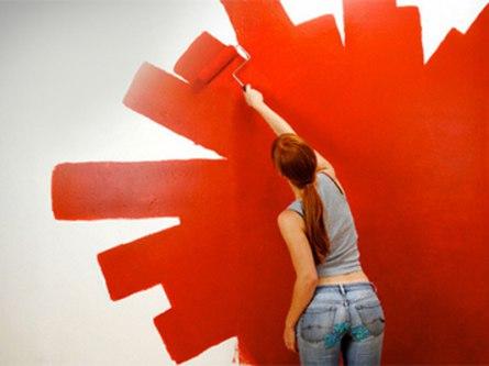 Оригинальная покраска стен своими руками как особенный приём