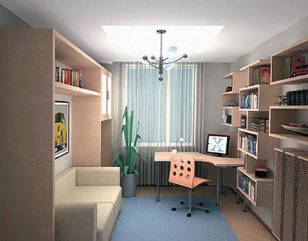 Практичная постановка мебели для школьников в комнате ребёнка