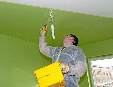Как правильно и быстро покрасить потолок?