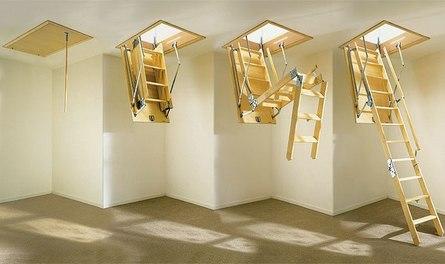 Как выбрать подходящий вариант чердачной лестницы?