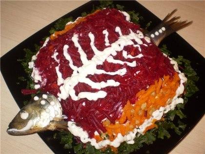 Вкусный и простой рецепт селёдки под шубой