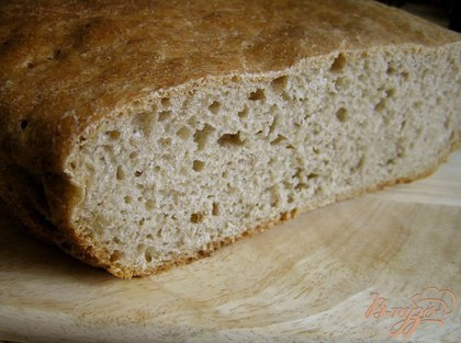 Ржано-пшеничный бездрожжевой хлеб на ржаной закваске