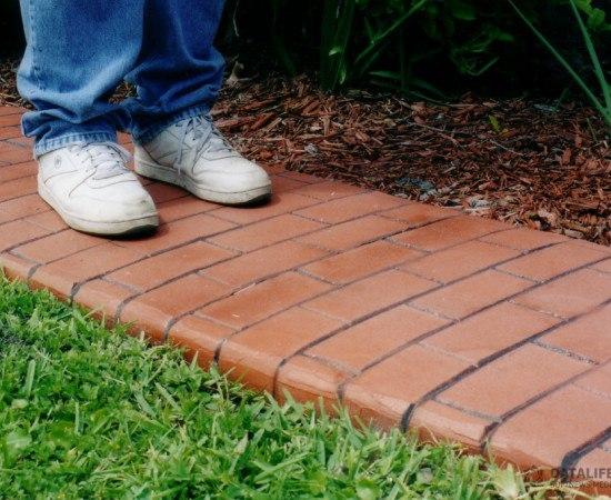 как сделать садовую плитку