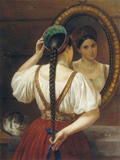 густые таджикские волосы у девушки