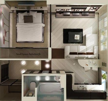 Хитрости обустройства однокомнатной квартиры