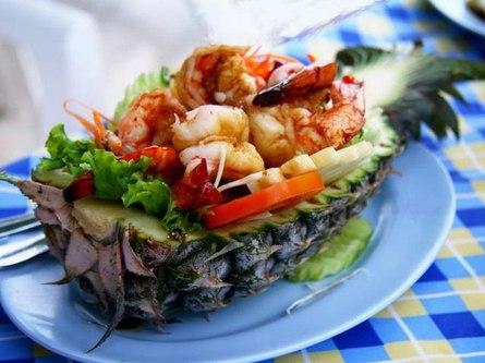 Салат из морепродуктов в тайском стиле