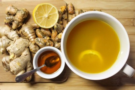 Чай с имбирём в зимнее время
