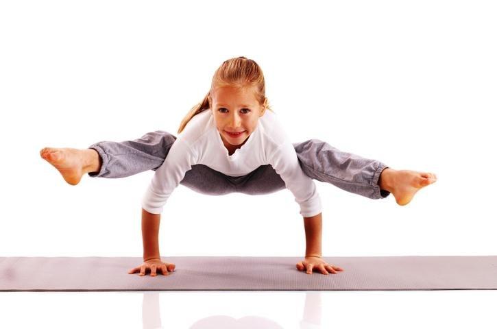 Фото поз на йогу для детей