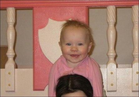 Кровать-замок для дочери своими руками