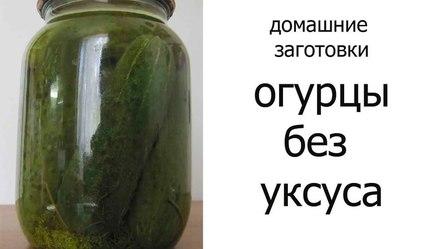 Рецепт солёных огурцов без использования уксуса