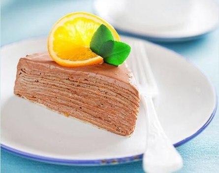 Шоколадно-апельсиновый торт без выпечки