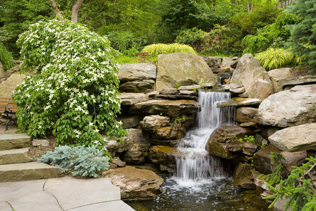 Создание водопада на участке